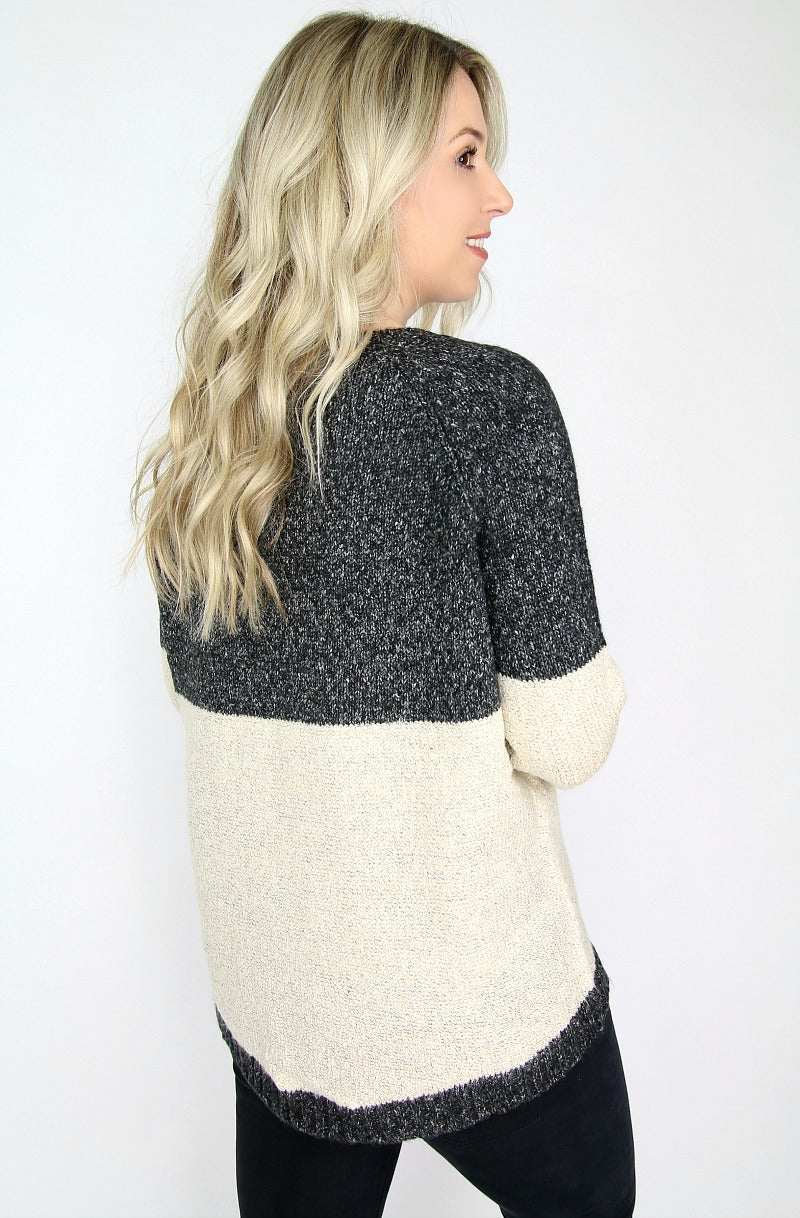 Colorblock Pocket Sweater - Madison + Mallory