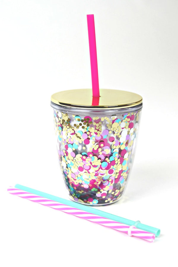 Let's Party Mini 12 oz. Confetti Tumbler - Madison + Mallory