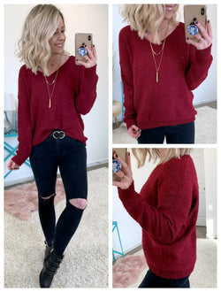 Conner V-neck Knit Sweater - Madison + Mallory