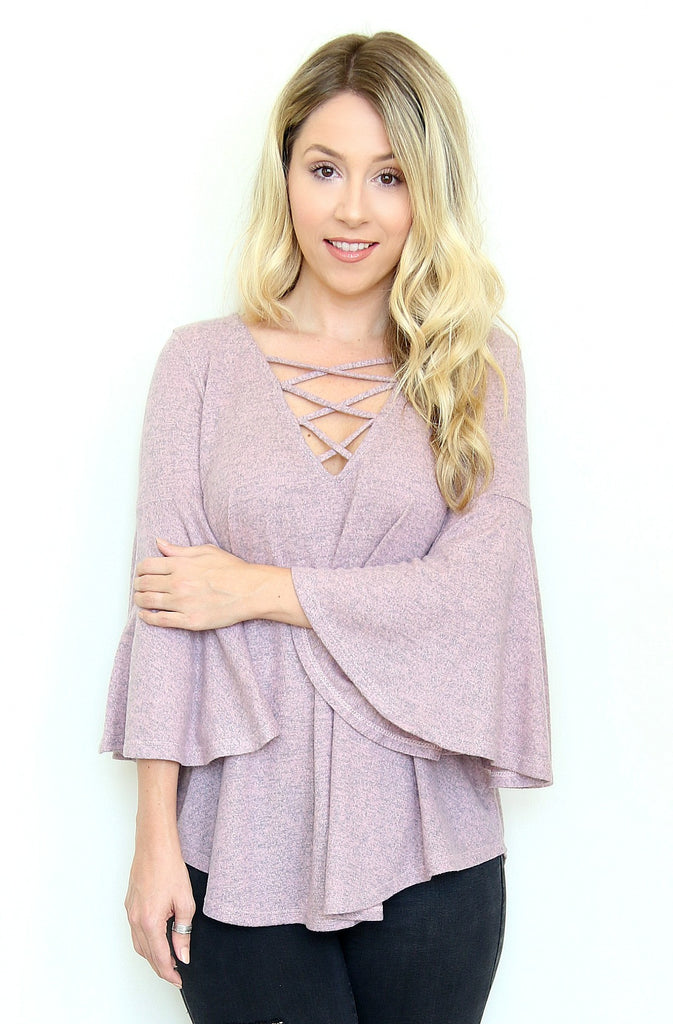 Cross Front Knit Top