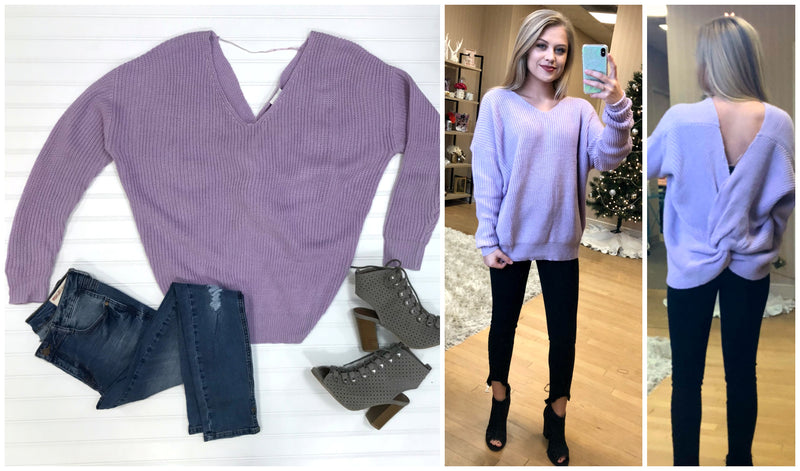 Cross Back Sweater | Curve - Madison + Mallory