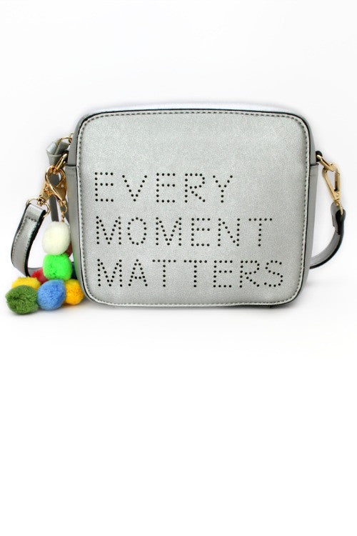 Silver Every Moment Matters Crossbody - Madison + Mallory