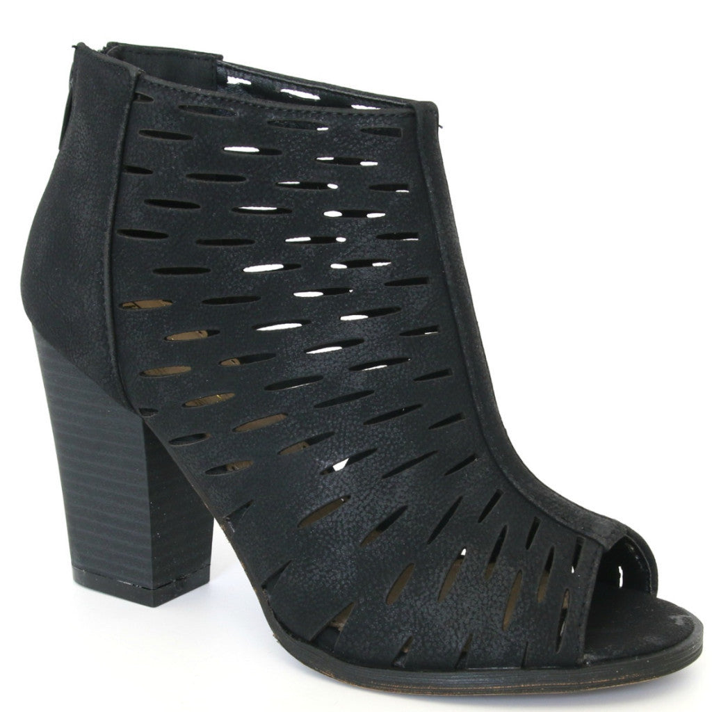 Laser Cut Stacked Heel