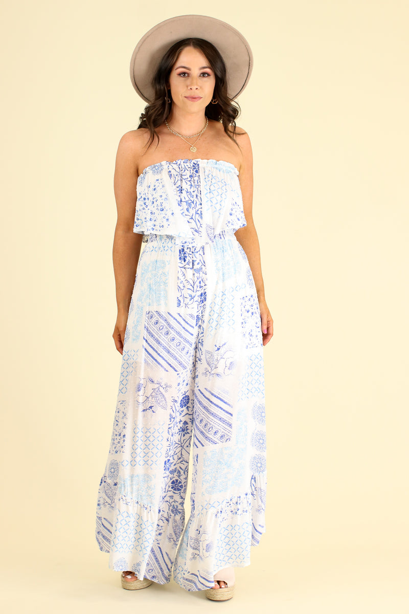 S / Off White Absolute Allure Flounce Ruffle Jumpsuit - FINAL SALE - Madison and Mallory