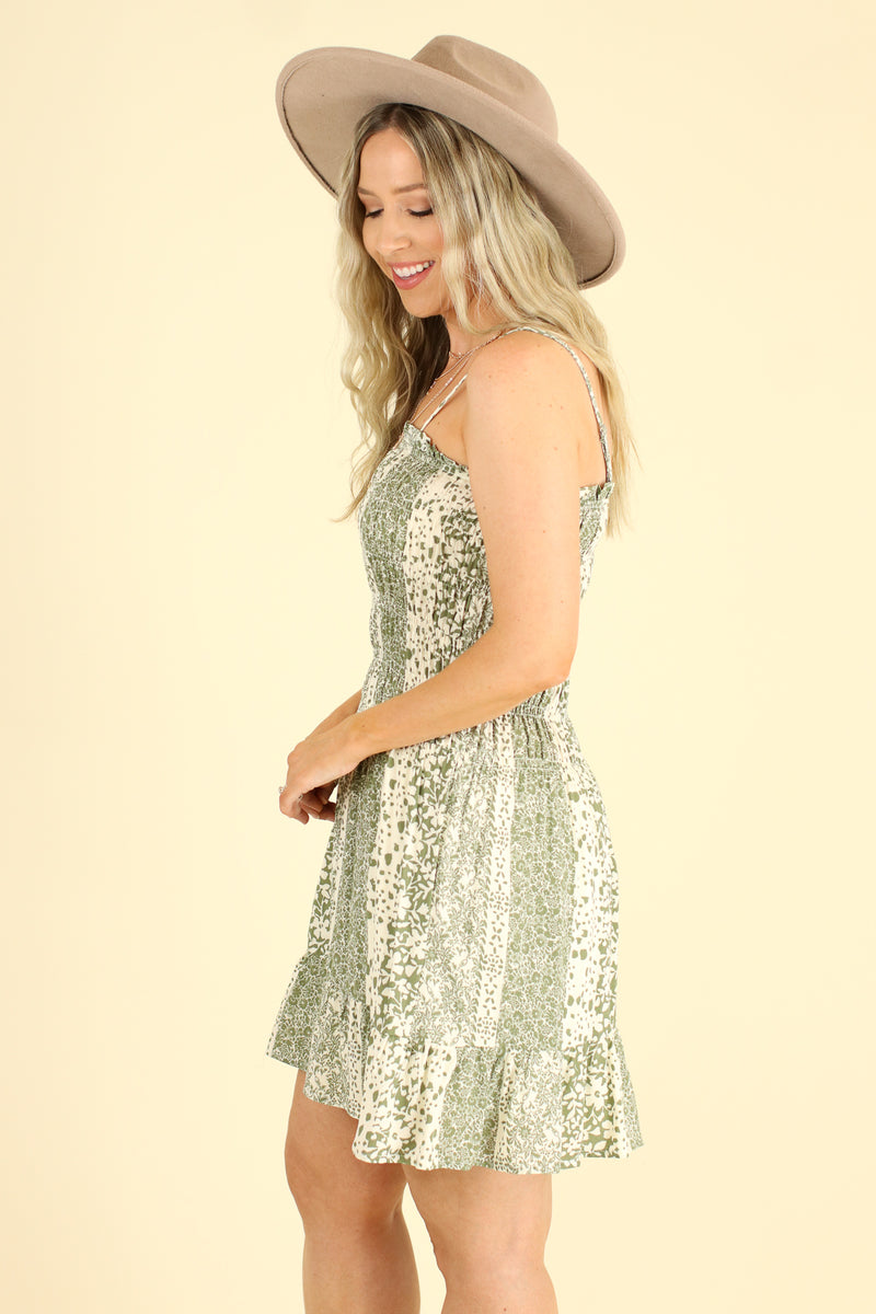 Gentle Soul Smocked Floral Dress - Madison and Mallory
