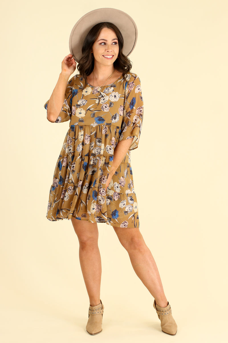 Look the Part Floral Tiered Dress - Madison and Mallory