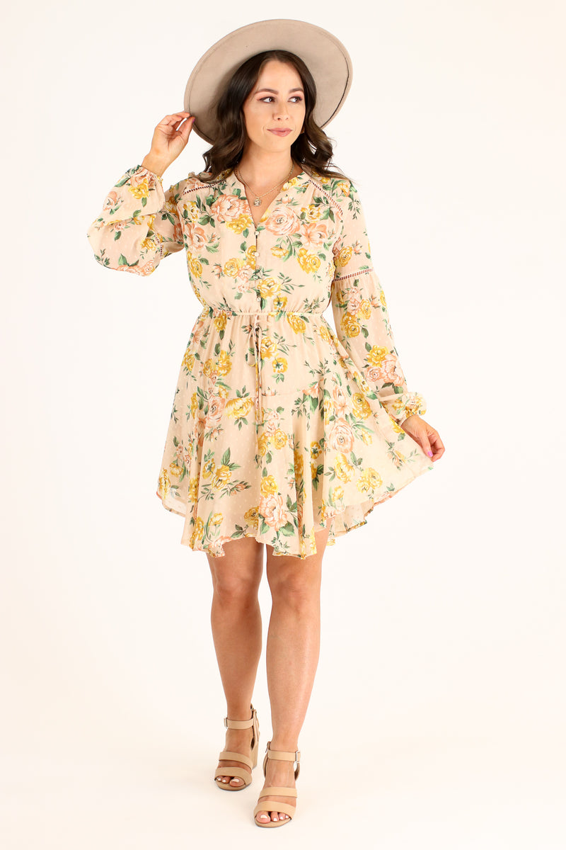 Harmonia Flowy Floral Dress - Madison and Mallory