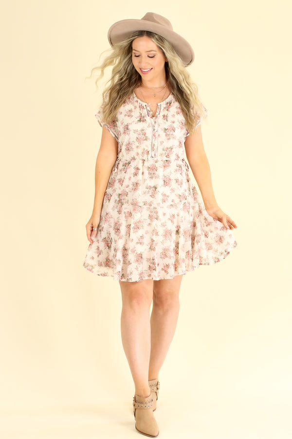 Persephone Floral Dress - FINAL SALE - Madison and Mallory