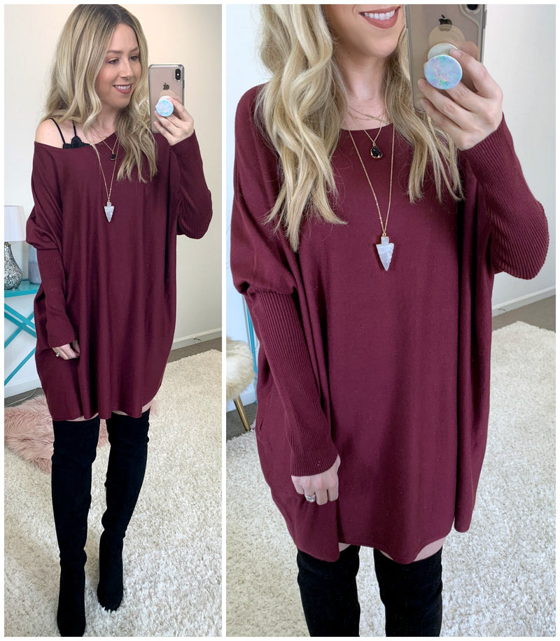 Braxton Knit Tunic - Madison + Mallory