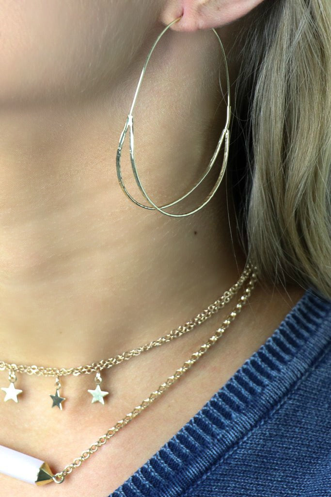 Oval Wire Hoops - Madison + Mallory