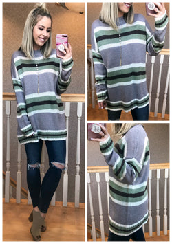 Somedays Striped Sweater - Madison + Mallory