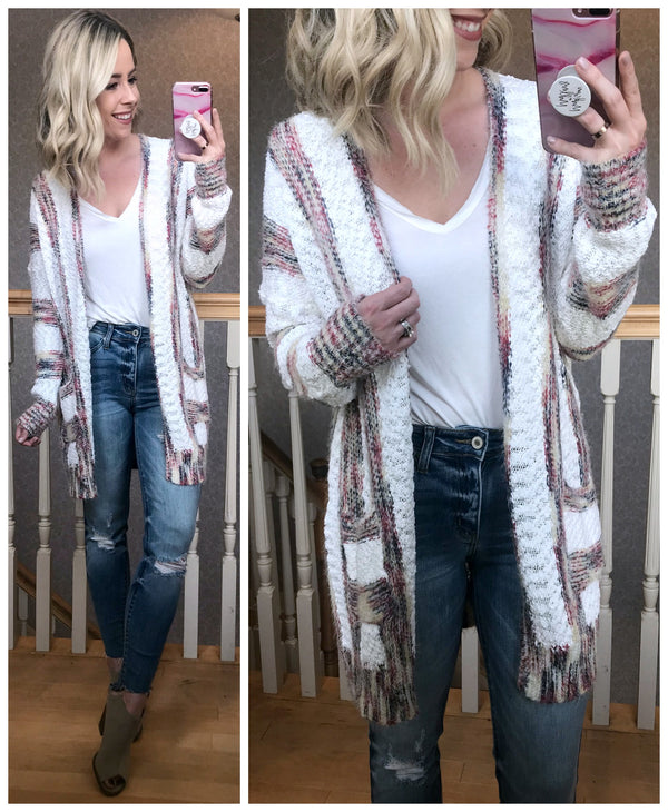 Annaka Striped Cardigan - Madison + Mallory
