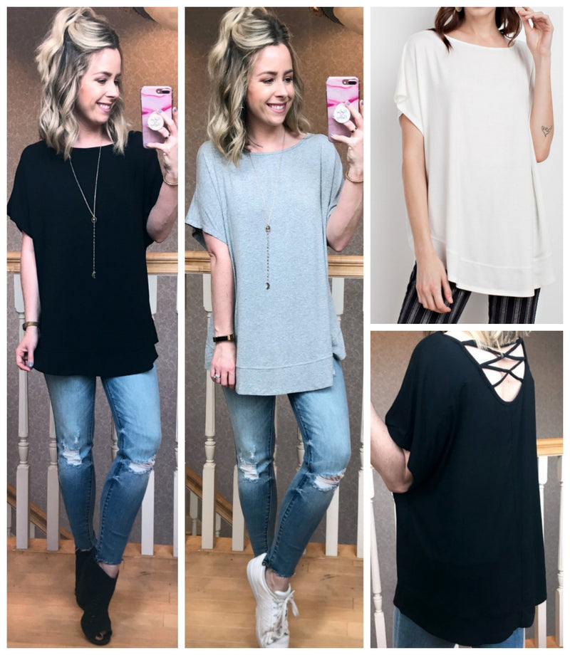 Ramona Cross Back Top - Madison + Mallory