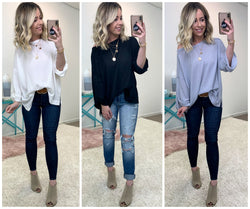 All In My Head Waffle Knit Top - Madison + Mallory