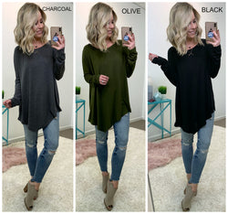 Asymmetrical Long Sleeve Top - Madison + Mallory