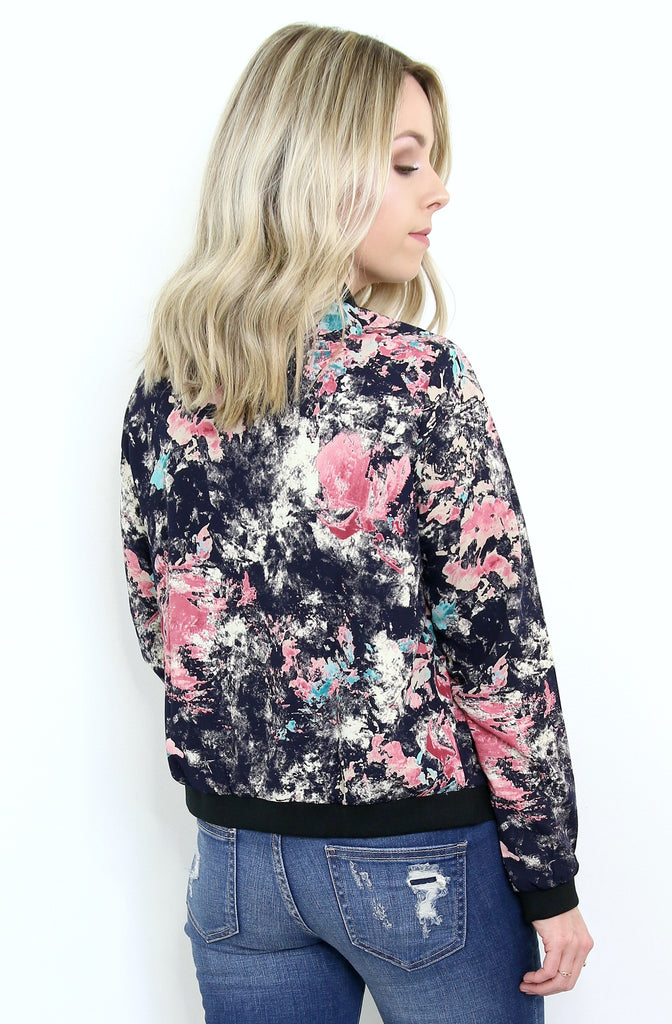 Paint Splatter Bomber Jacket