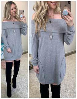 Hold You Close Tunic Dress - Madison + Mallory