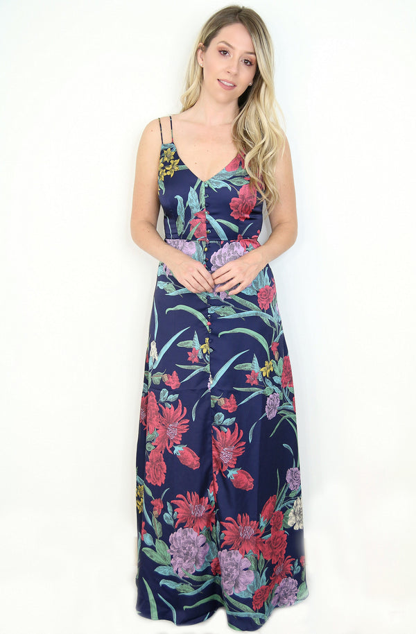 XS / Multi Floral Maxi Dress - FINAL SALE - Madison and Mallory