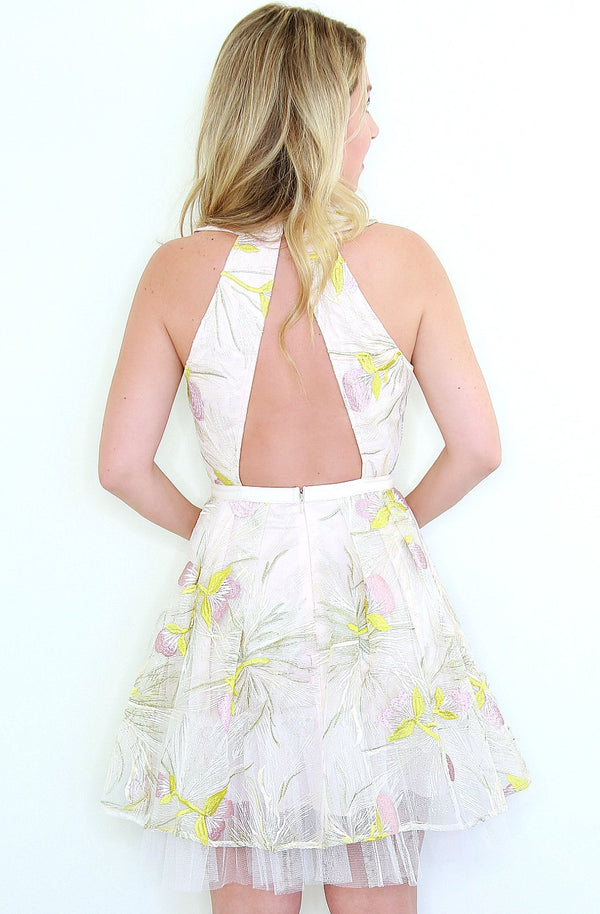 White Floral Embroidered Dress - FINAL SALE - Madison + Mallory