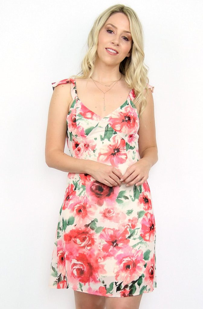 Floral Open Back Detail Dress