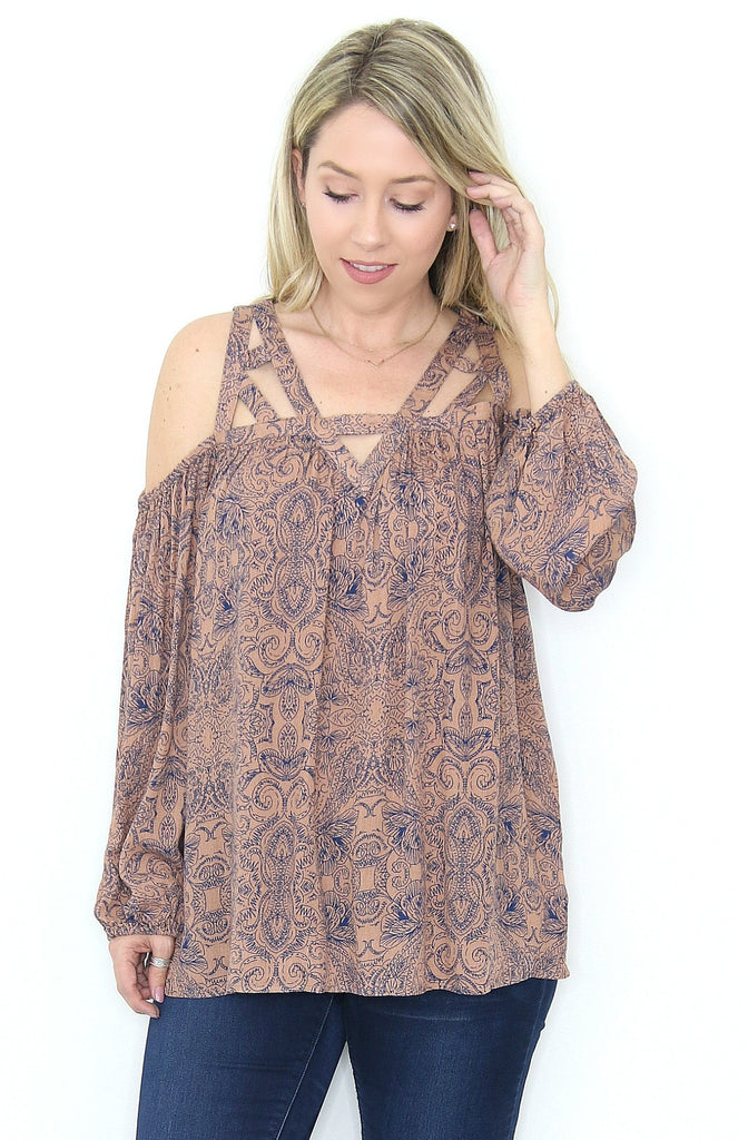 Strappy Floral Tunic Top