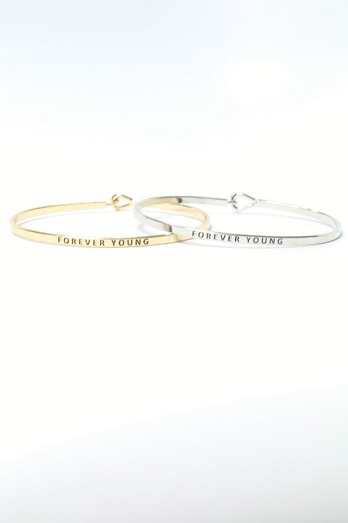 Forever Young Delicate Bangle Bracelet