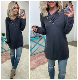 Elaina Button Detail Pullover - Madison + Mallory