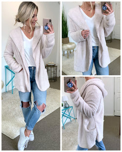 Beige / SM Copeland Soft Hooded Jacket - Madison + Mallory