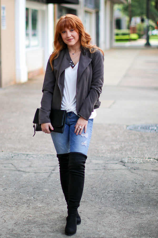 Sassy in Suede Over the Knee Boots - Madison + Mallory
