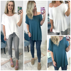 High Low Knit Top - Madison + Mallory