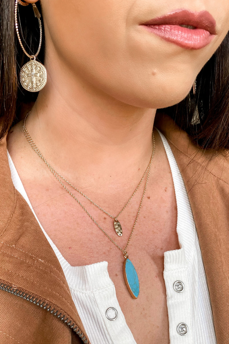 Puesta Del Sol Stone Layered Necklace - Madison and Mallory