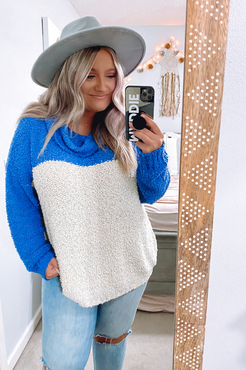 Brina Popcorn Knit Color Block Sweater - Madison and Mallory