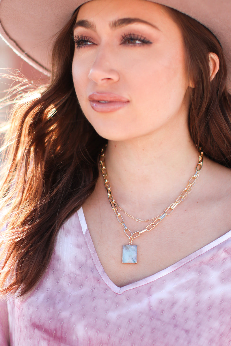 Sunny In Santorini Layered Chain Necklace - Madison and Mallory
