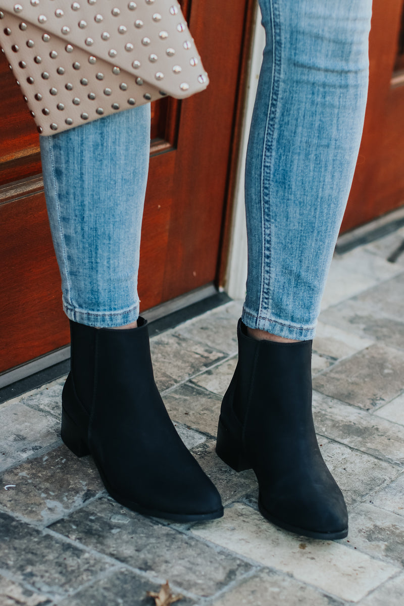 What a Night Faux Leather Booties - Madison and Mallory