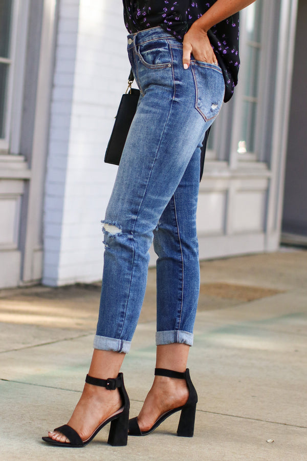 Ganessa Distressed Boyfriend Jeans - FINAL SALE - Madison and Mallory