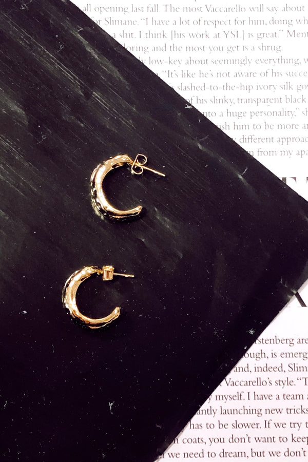 Gold Iconic Moves Hoop Earrings - Madison and Mallory