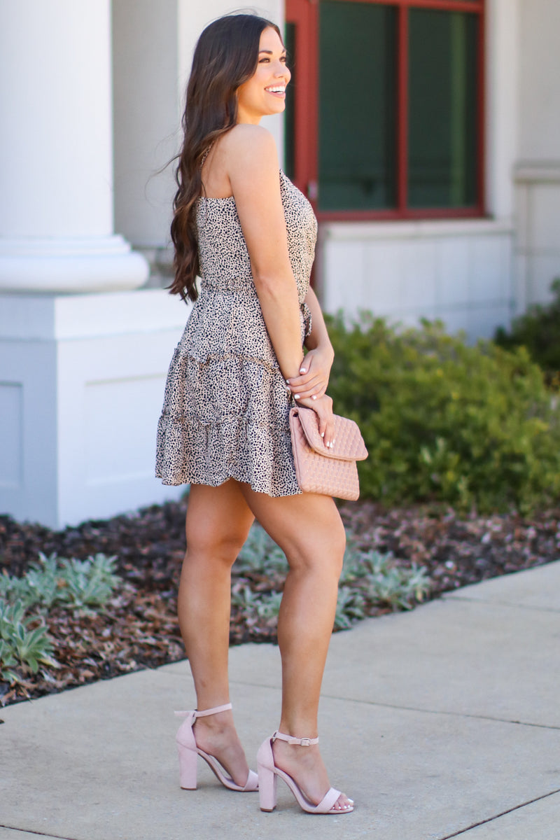 Risa Leopard Dress - Mocha - Madison and Mallory