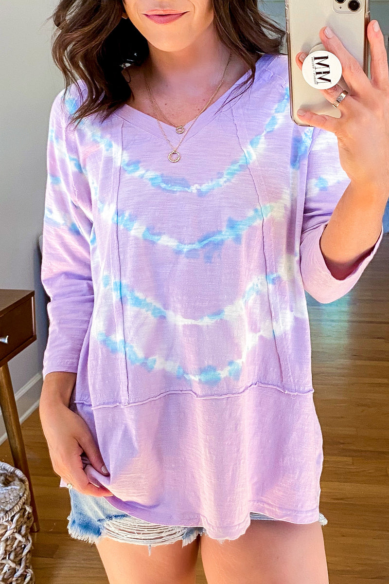 So Right Tie Dye Knit Pullover - Madison and Mallory