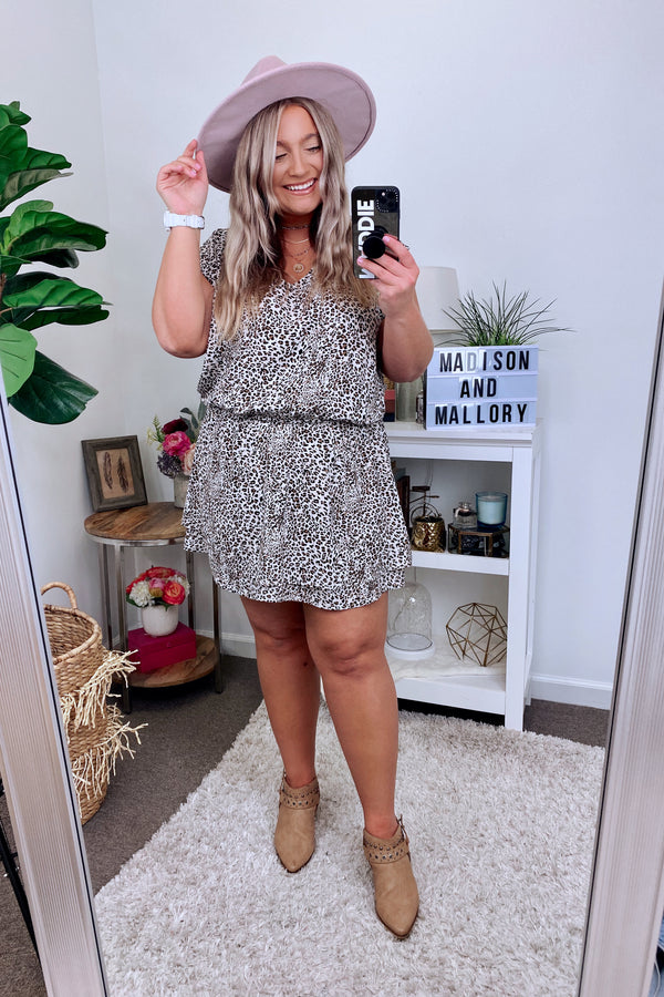 Diego Leopard Print Dress - FINAL SALE - Madison and Mallory