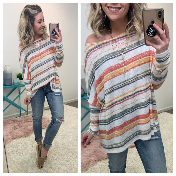 Litzy Multi Color Yarn Dyed Pullover - Madison + Mallory