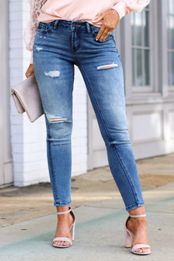 1/25 / Denim Capuro Distressed Skinny Jeans - Madison and Mallory