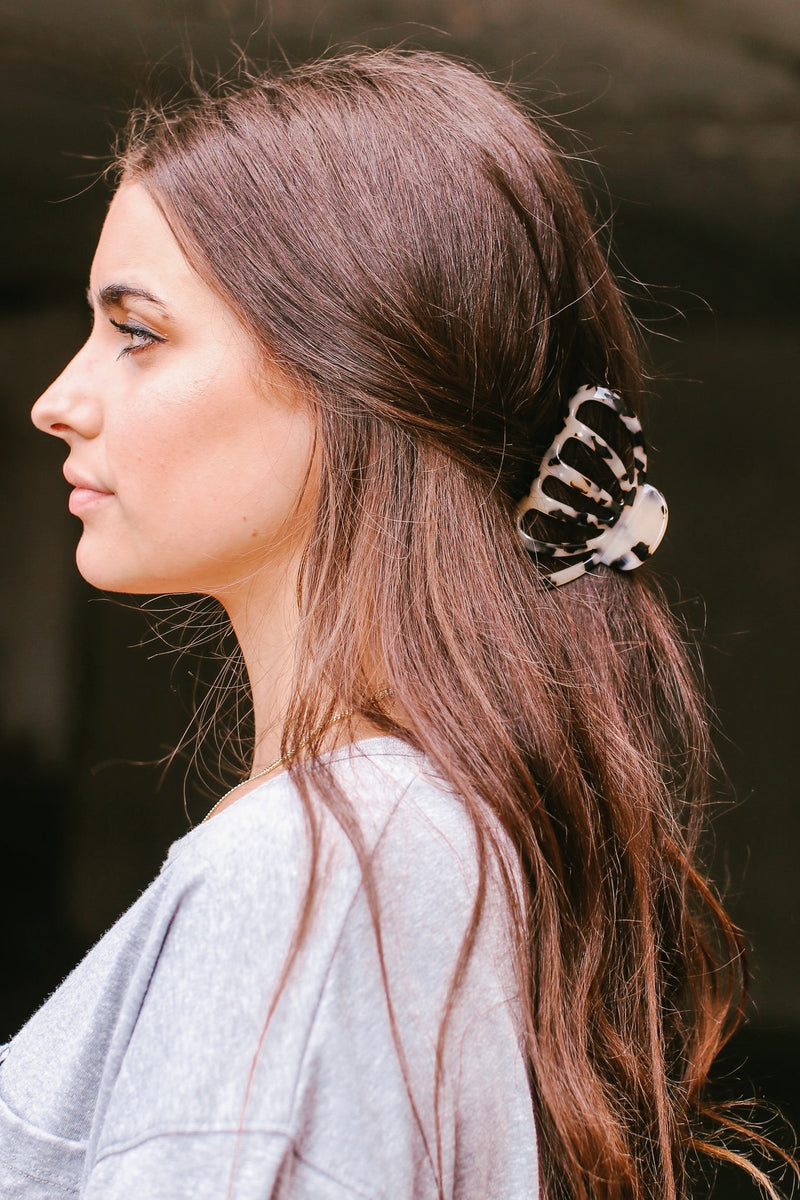 Style Up Acetate Jaw Hair Clip - Madison and Mallory