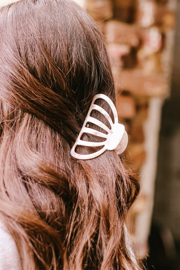 Cream Style Up Acetate Jaw Hair Clip - Madison and Mallory
