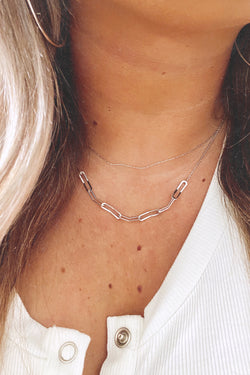 Silver Naia Dainty Layered Chain Necklace - Madison and Mallory