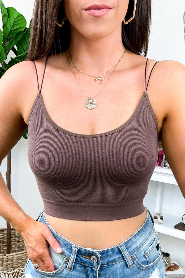 Chocolate / SM Koryn Seamless Bra Top + NEW COLORS - Madison and Mallory