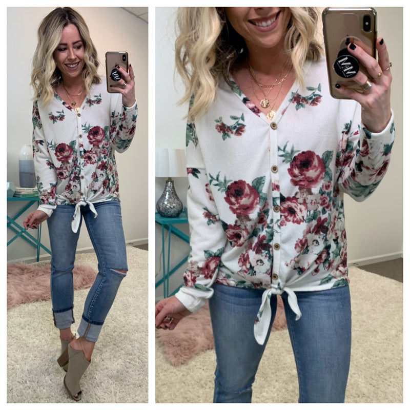 Belhaven Floral Tie Top - Madison + Mallory