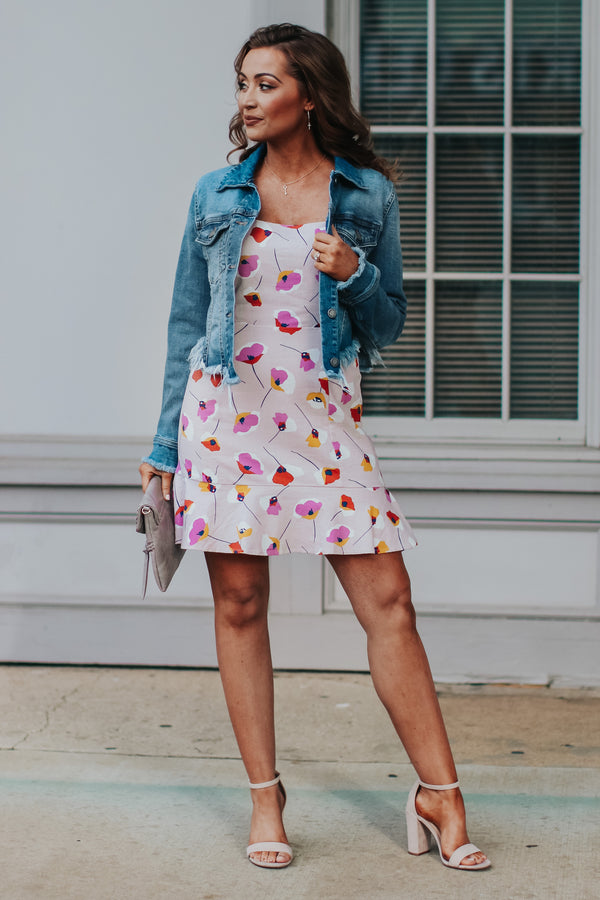 Moment of Love Floral Ruffle Dress - FINAL SALE - Madison and Mallory