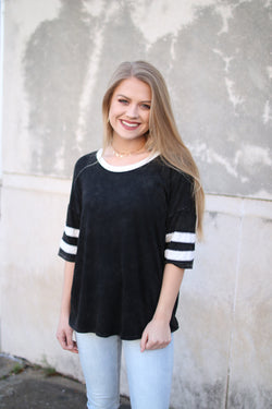 Mineral Washed Varsity Top - Madison + Mallory