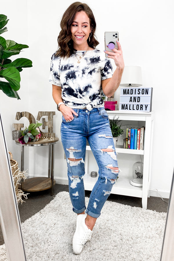 Fresh Choice Distressed Tomgirl Jeans - Madison and Mallory