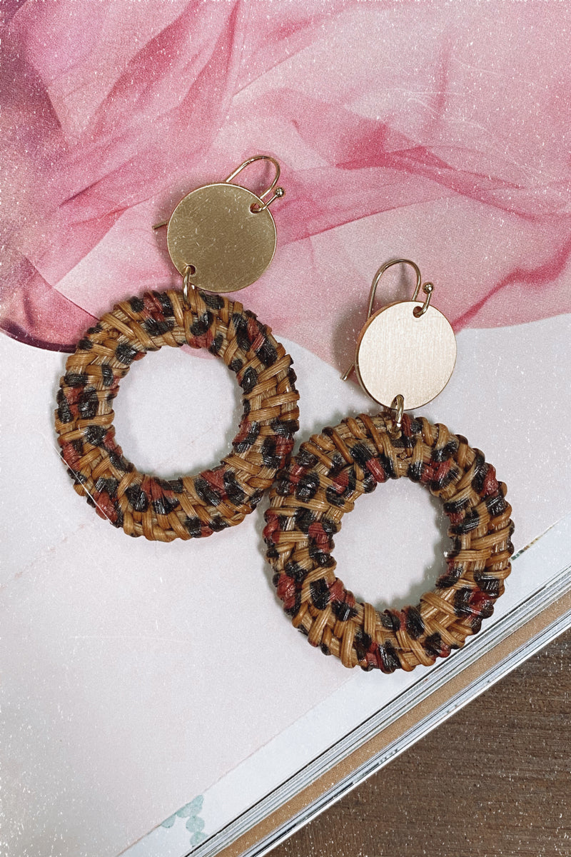 Be Yourself Animal Print Braided Earrings - Madison and Mallory